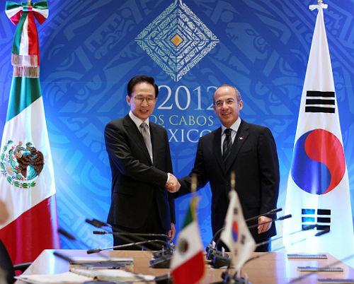 los presidentes de corea y de m 233 xico se comprometen a